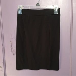 Above the knee black pencil skirt